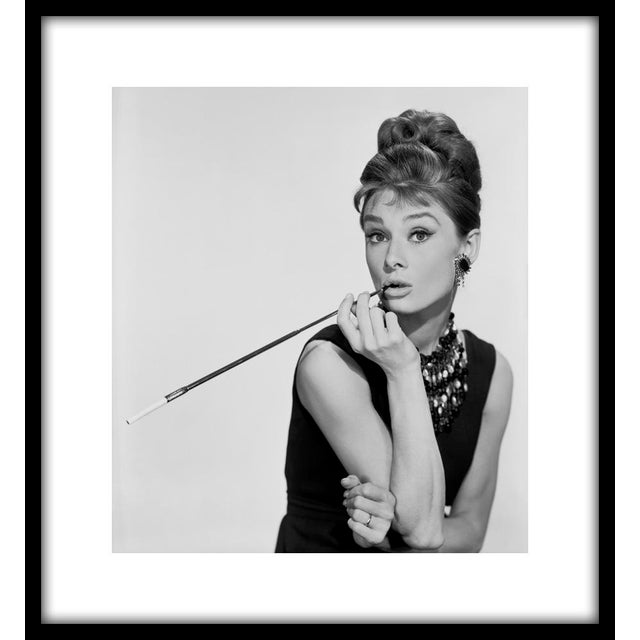 "Audrey Hepburn as Holly Golightly in ""Breakfast at Tiffany's,"" 1961. Photo by Bud Fraker. 11"" x 14"" estate stamped silver..."