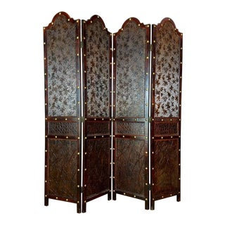 Portuguese Embossed Leather Room Divider