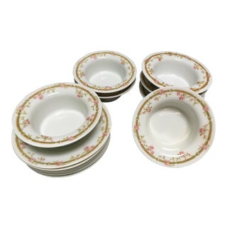 1894 French Theodore Haviland Limoges Dessert Dishes and Plates - 14 Piece Set For Sale