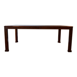 Mid-Century Henredon Chinese Chippendale Dining Table For Sale