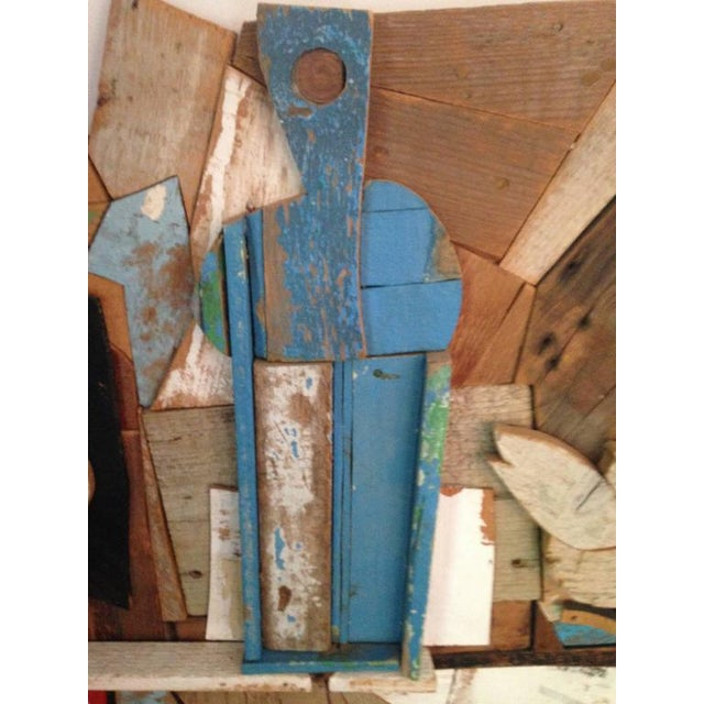 Felice Antonio Botta Abstract Wood Collage by Felice Antonio Botta, Italy, 20th Century For Sale - Image 4 of 9