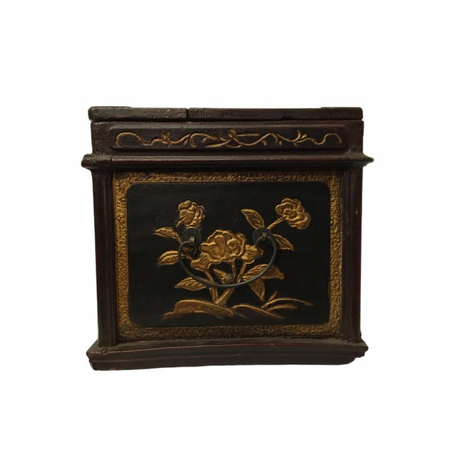 Antique Wooden Chinese Keepsake / Jewelry Box For Sale In San Francisco - Image 6 of 10