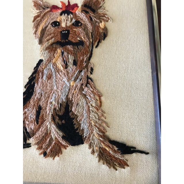 Handmade Framed Yorkie Dog - Image 5 of 10