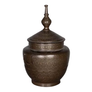 Pair of Burmese Bronze Alms Pot For Sale