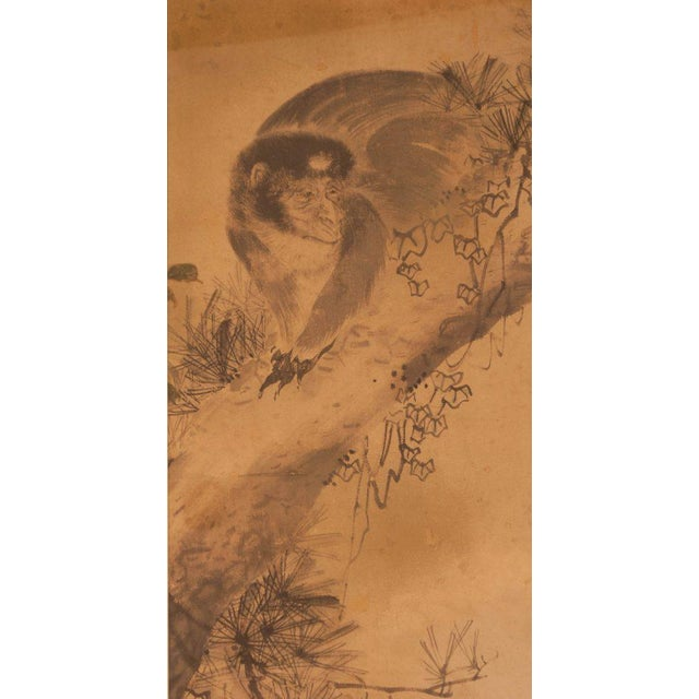 Asian Circa 1820 Edo Period Japanese Ink on Paper Painting For Sale - Image 3 of 5