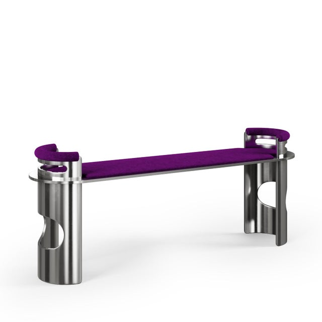 U-Bench by by Artist Troy Smith - Contemporary Design - Artist Proof - Custom Furniture Custom solid metal bench,...