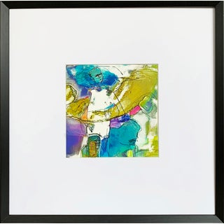 Abstract Figurative Print With Frame For Sale