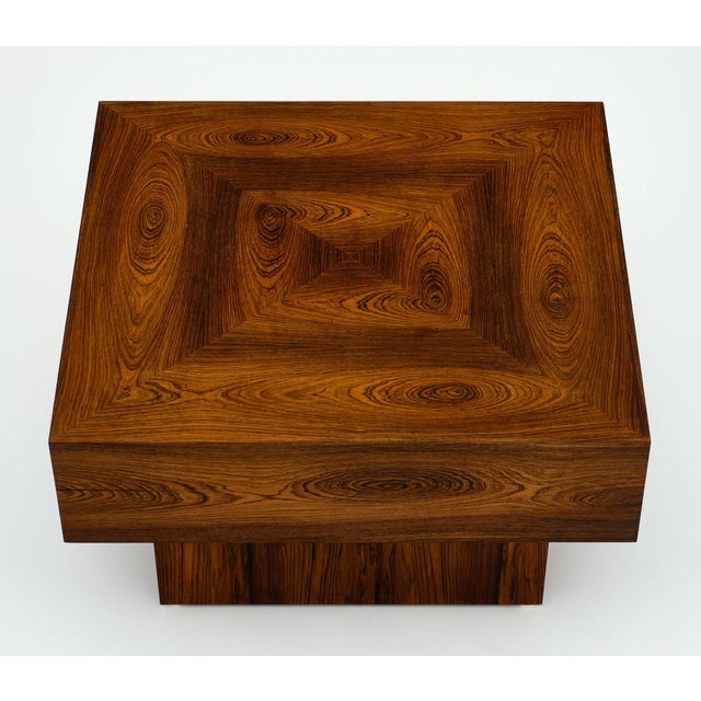 Cubist French Wood Side Table For Sale - Image 4 of 11