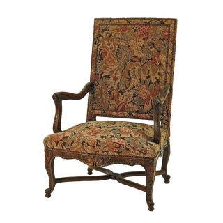 Late 19th Century French Regency Fruitwood Armchair For Sale