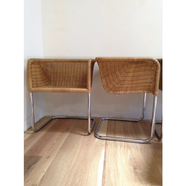 Harvey Probber Wicker & Chrome Chairs- Set of 6 - Image 5 of 7