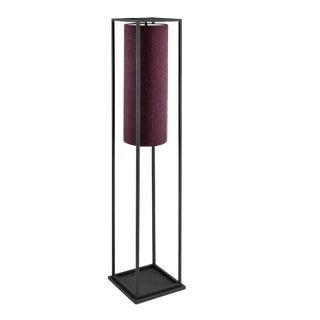 Black Textured Box Floor Lamp For Sale