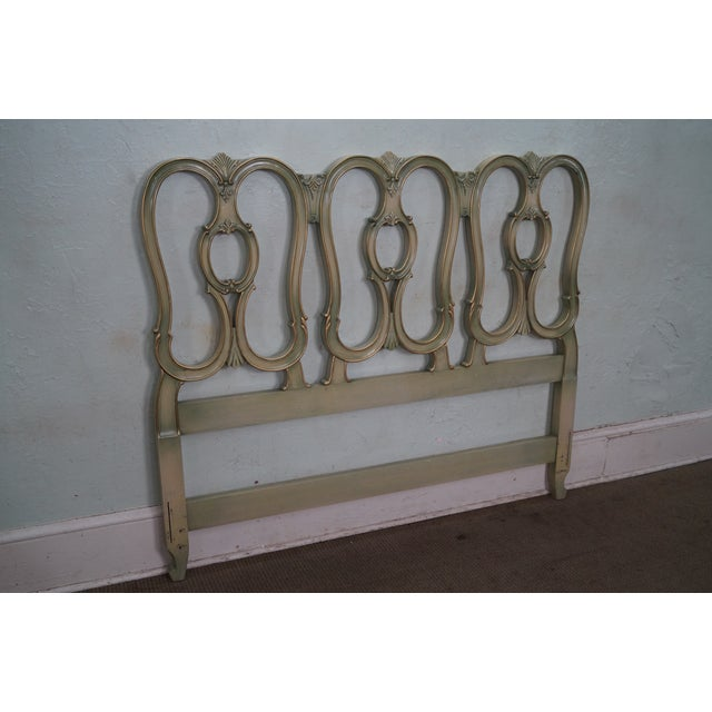 Vintage French Louis XV Style Queen Size Headboard - Image 6 of 10