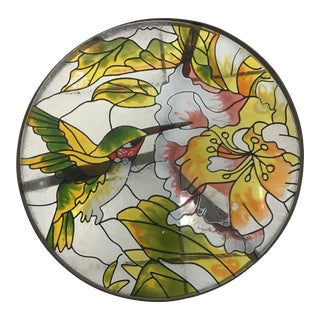 Hummingbird Stained Glass Accent Plant Stand Tables For Sale