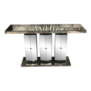 Drexel Heritage Mirrored Console Table For Sale