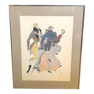 "Moran Limited Edition Signed ""The Dance"" Lithograph Framed Wall Art Original Print For Sale"