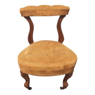 Antique Velvet Tufted Vanity Chair