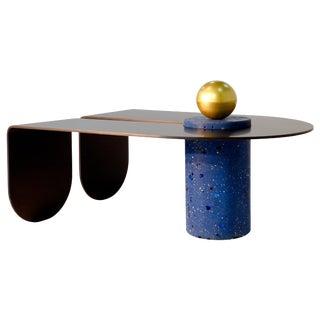 U&I Coffee Table With Brass Storage Sphere by Birnam Wood Studio For Sale