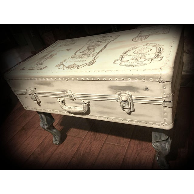 Vintage Trunk Queen Anne Coffee Table - Image 4 of 12