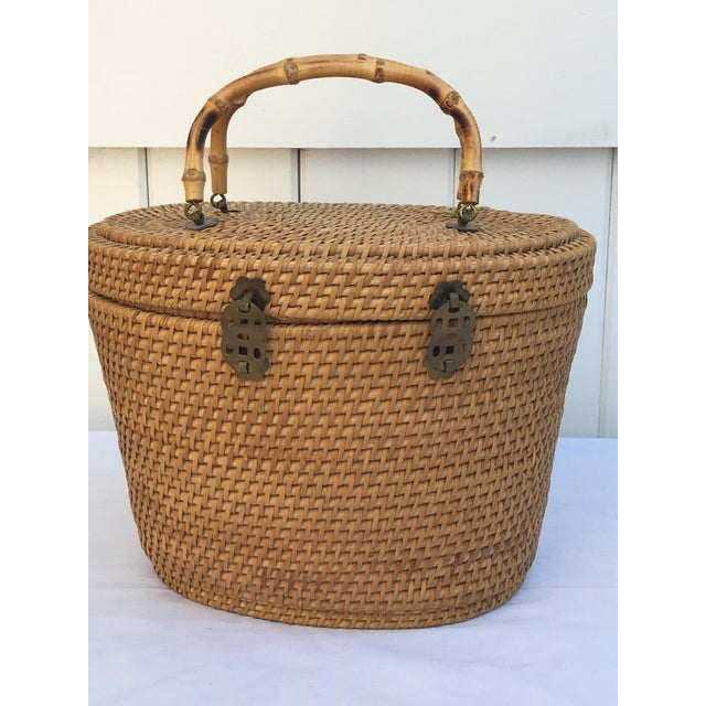1950s Woven Basket Purse - Image 5 of 8
