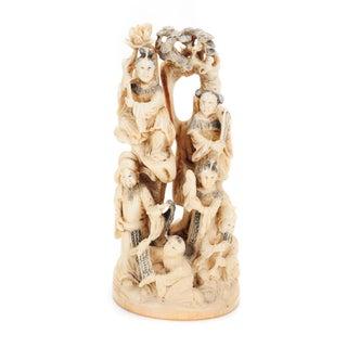 "Chinese 19th Century Antique Figural 9"" Sculpture"