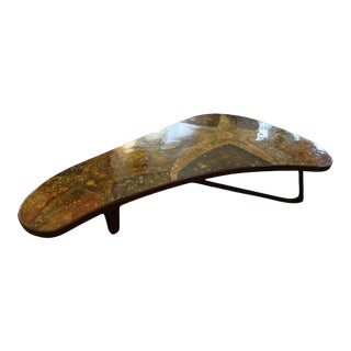 Mid-Century Modern Bronze, Resin and Shell Coffee Table For Sale