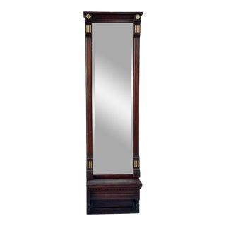 Antique Eastlake Pier Hall Carved Wood Mirror For Sale