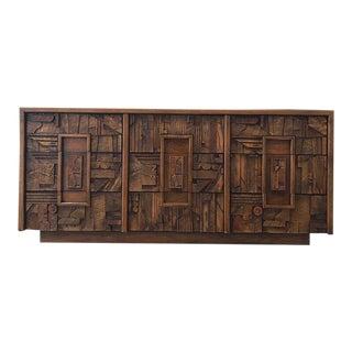 1970s Brutalist Lane Lowboy Dresser For Sale