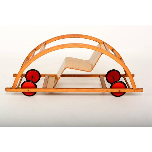 Mid-Century Modern Vintage Schaukelwagen Swing and Race Car Toy, Midcentury For Sale - Image 3 of 6