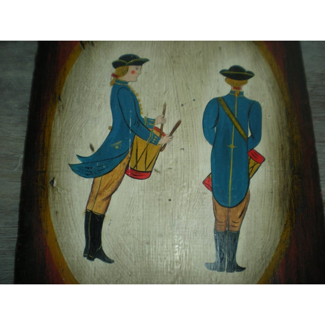 Vintage Painted Soldier Painting - Image 5 of 5