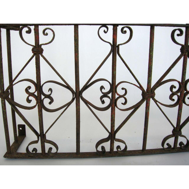 Traditional Pair of Antique 19th Century Iron Window Grille/Gate For Sale - Image 3 of 7