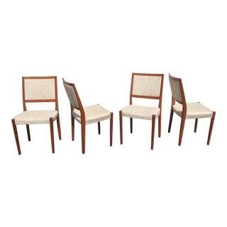 1960s Vintage Swedish Modern Svegards Markaryd Teak Dining Chairs - Set of 4 For Sale