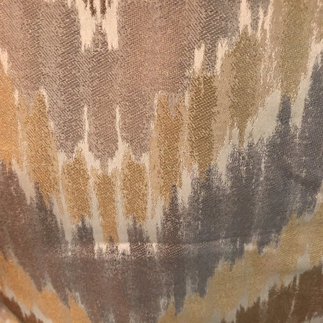Gray, Golden & Brown Fabric - 1.5 Yards For Sale - Image 5 of 6