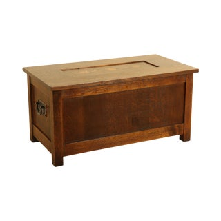 Stickley Mission Collection Inlaid Oak Gustav Collector's Chest For Sale