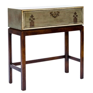 Asian Inspired Chest on Stand Console For Sale