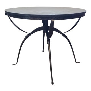 Modern Cyan Design San Francisco Iron and Granite Side Table/Center Table For Sale