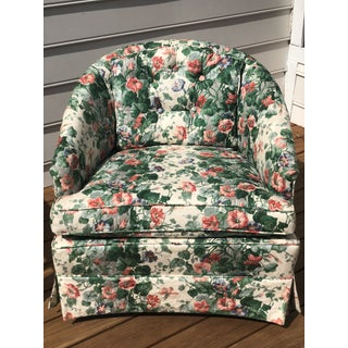 20th Century English Traditional Chintz Club Chair Preview