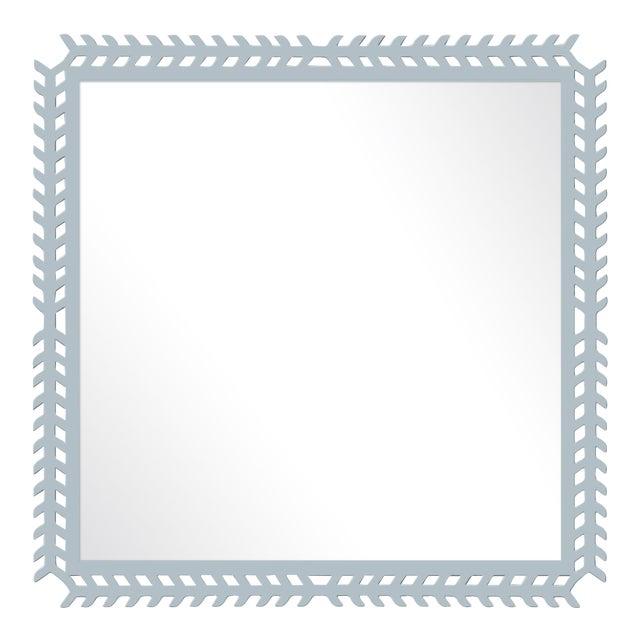 Fleur Home x Chairish Toulouse Trellis Mirror in Parma Gray, 24x24 For Sale