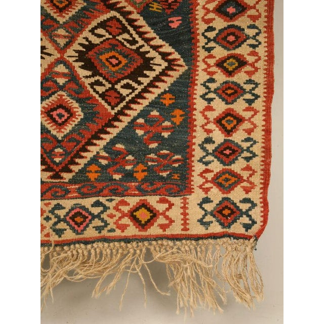 Circa 1930 Persian Kilim Geometric Patterned Rug - 5′2″ × 7′11″ For Sale - Image 10 of 10