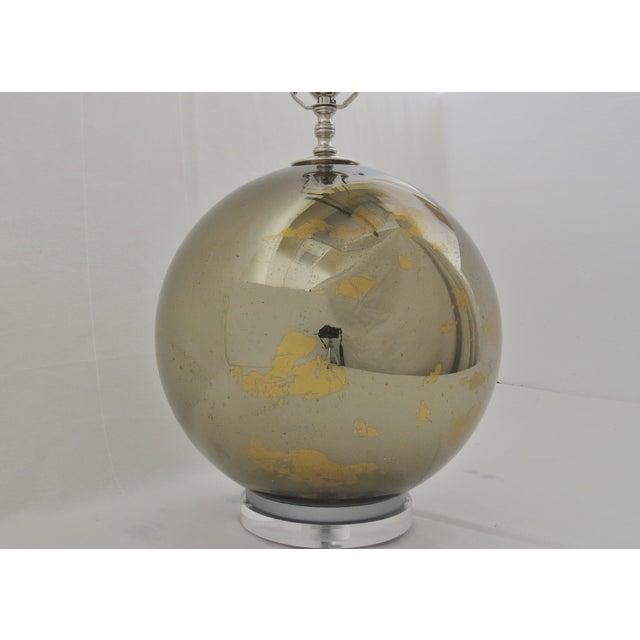 Bronzed Mercury Glass Globe Lamp - Image 5 of 6