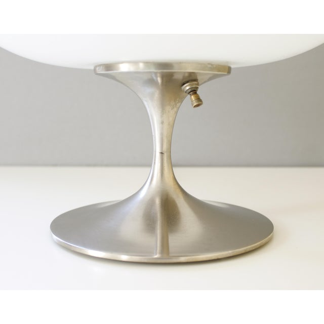 Mid-Century Modern Vintage Bill Curry for Laurel Mid Century Modern Chrome Mushroom Lamp For Sale - Image 3 of 7