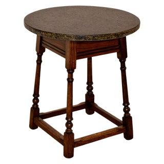 Edwardian Oak Side Table For Sale