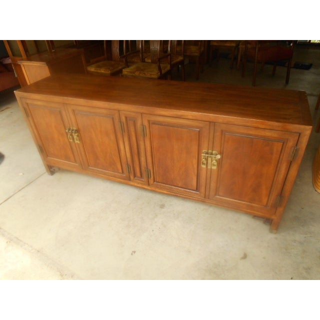 Mid-Century Maple and Brass Credenza by Century - Image 3 of 10