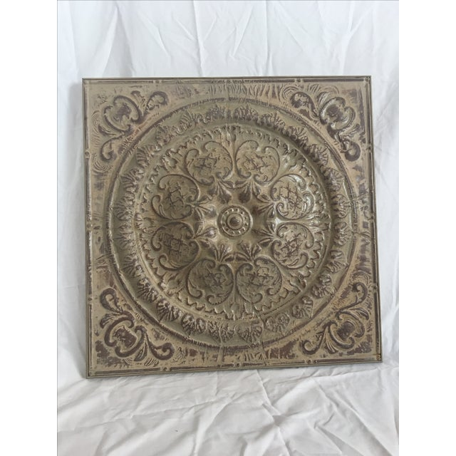 Traditional Style Embossed Metal Decorative Object - Image 2 of 7