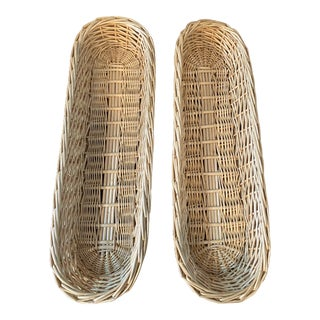 Vintage Baguette Bread Basket, Pair For Sale