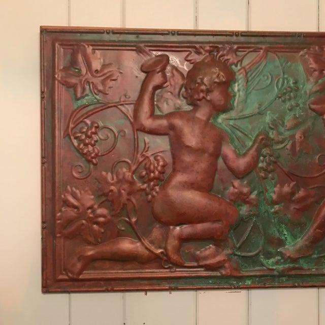 Victorian Copper Cherub Wall Panel For Sale - Image 5 of 11