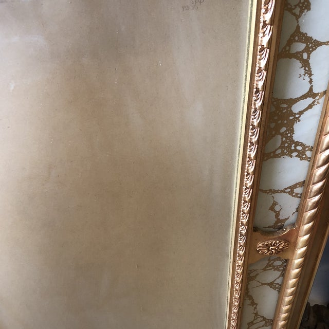 1970s Rococo Scrolling Floor Gilded Mirror For Sale - Image 5 of 7
