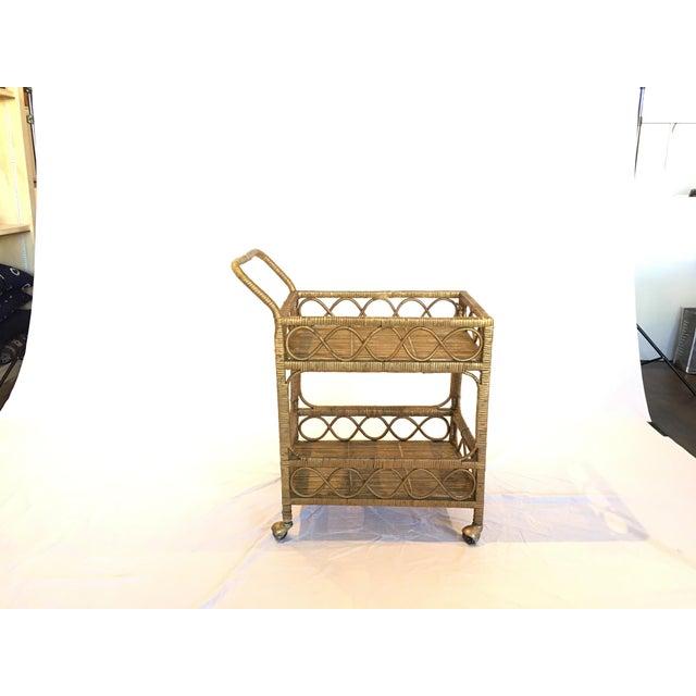Regency Rattan Bar Cart - Image 2 of 5