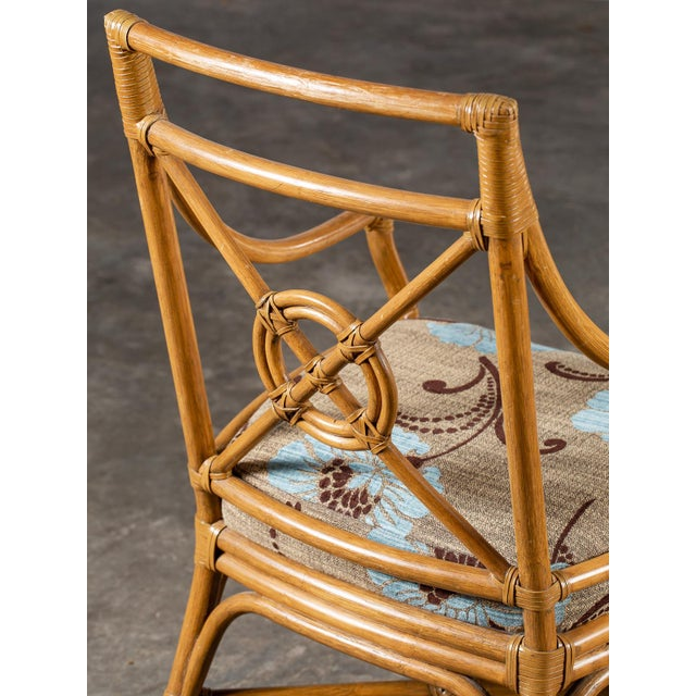 Asian 1970s Vintage McGuire Bamboo Target Design Chairs - a Pair For Sale - Image 3 of 13