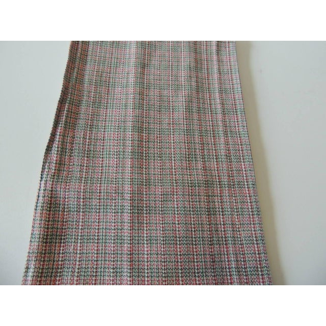 Vintage Green and Red Woven Bathroom Guest Towel For Sale - Image 4 of 6