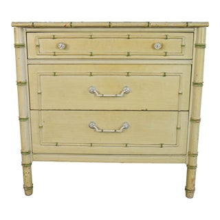 Hollywood Regency Thomasville Faux Bamboo Chest For Sale